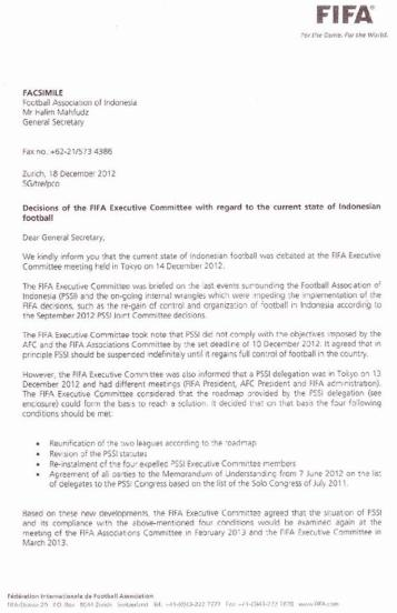 Surat FIFA